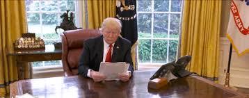 trump desk watch trump walks away from cbs news interview when reporter