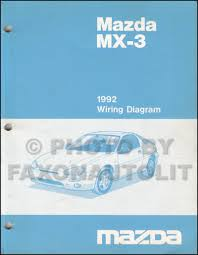 1992 mazda mx 3 repair shop manual original