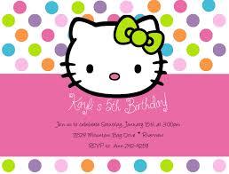 Birthday Invitation Cards Models Hello Kitty Birthday Invitations Blueklip Com