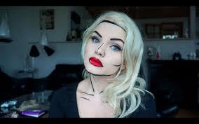 Comic Book Makeup Tutorial Super Quick And Easy Halloween Makeup