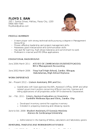Liaison Resume Sample by Curriculum Vitae Sample For Fresh Accounting Graduate 13 Resume
