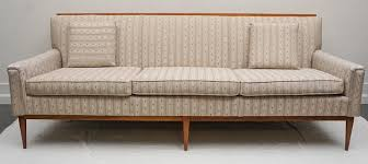 Sofa With Wood Trim by 1950s Midcentury Paul Mccobb Wood Trim Sofa For Sale At 1stdibs