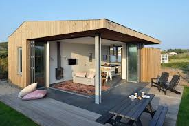 using corner folding glass doors makes this compact design a real