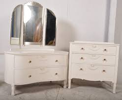 White Shabby Chic Dressing Table by An Edwardian Painted Shabby Chic Dressing Table And Chest Of