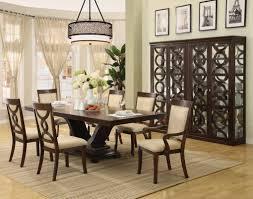 contemporary white dining room light wooden laminated floor dark