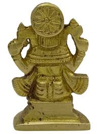 Brass Home Decor by Shiv Parivar Statue Decorative Religious Brass Gold Tone Office