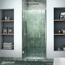 dreamline unidoor 36 37 in width frameless hinged shower door 3
