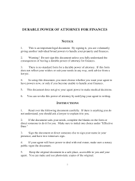 Durable Power Of Attorney For California by Durable Power Of Attorney Form 43 Free Templates In Pdf Word
