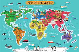 Kids World Map World Map Ideas For Offices