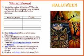 ESL lesson plan examples and free ready to use English lessons     EnglishVille It can be also used as a homework on Halloween or during private lessons with kids  Practice online dictionary