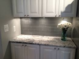 Glass Subway Tile Backsplash Kitchen Cool Grey Subway Tile Backsplash Kitchen 90 White Kitchen Gray