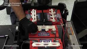 how to replace club car precedent batteries electric golf cart