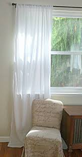 white cotton batiste curtain custom order one panel