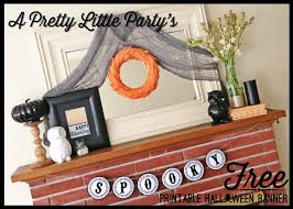printable halloween banner a pretty little party