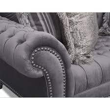 Grey Sofa And Loveseat Set Brittney Sofa Loveseat And Chaise Set Gray American Signature