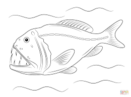 fangtooth fish coloring free printable coloring pages