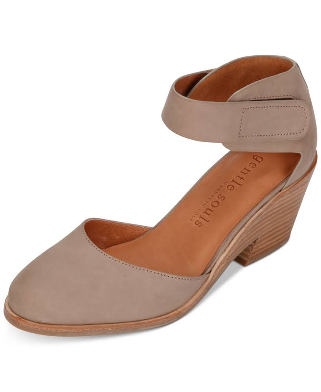 Gentle Souls By Kenneth Cole Blaise Leather Wedge Pump, 8.5, Brown