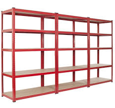 Simple Free Standing Shelf Plans by Basement Modern Free Standing Red Wooden Multiple Shelves Storage