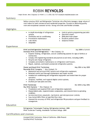 Computer Technician Resume Sample by Ingenious Inspiration Hvac Technician Resume 1 Unforgettable Hvac