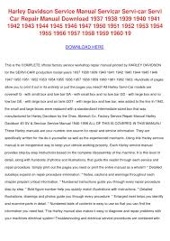 harley davidson service manual servicar servi by