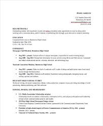 Samples Of Resumes For Highschool Students by Example Of Resume For High Student