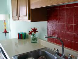Tile For Backsplash In Kitchen Faux Tile Kitchen Backsplash
