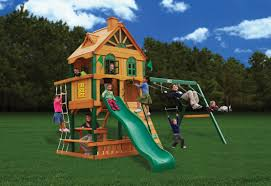 Cedar Playsets Furniture Amusing Swing Set By Gorilla Playsets Plus Chateau And