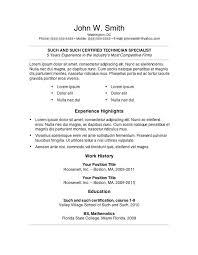 Simple Resume Examples by Basic Resume Template 51 Free Samples Examples Format Microsoft