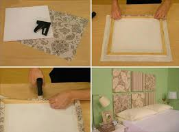 fabric squares headboard love this idea although i would attach