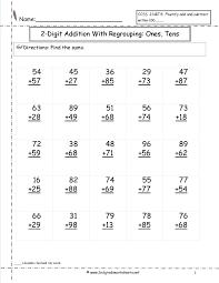 Addition Worksheets Pdf Two Digit Addition Worksheets