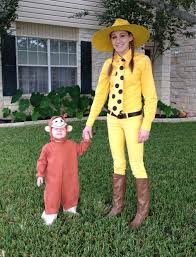 halloween costume ideas pairs curious george and the man woman in the yellow hat halloween