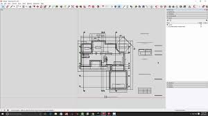 How To Draw A Floor Plan For A House Part 1 Converting Pdf Drawings For Use In Sketchup Youtube