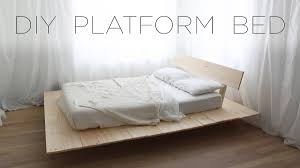 Make A Platform Bed With Storage by Diy Platform Bed Modern Diy Furniture Projects From Homemade