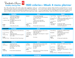 Healthy Eating Plan calories Week menu planner and to