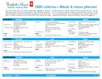 Healthy Eating Plan calories Week menu planner and to