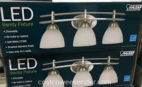 feit electric led vanity fixture costco weekender