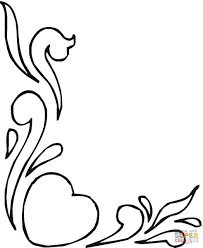 download coloring pages hearts and flowers ziho coloring