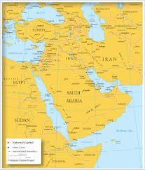 Jordan Country Map Map Of Countries In Western Asia And The Middle East Nations