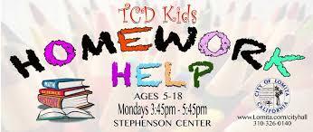 Homework Help at Lomita Park LA Parent