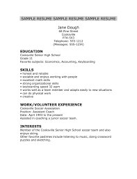 Volunteer Examples For Resumes by High Senior Resume Examples Resume Examples 2017