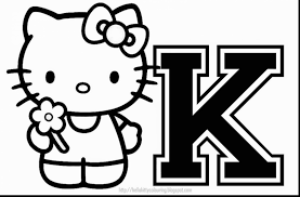 extraordinary hello kitty coloring pages with hello kitty