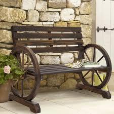 Patio Furniture Mobile Al by Bcp Patio Garden Wooden Wagon Wheel Bench Rustic Wood Design