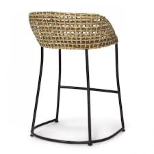 Iron Kitchen Island by Dining Room Unusual Wicker Vero Counter Bar Stools Rattan Seat