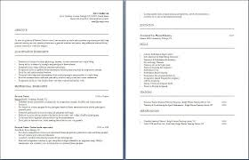 Personal Trainer Resume Example No Experience by Resume Example For Job Job Example Resume Example Job Resume