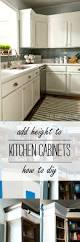 Kitchen Cabinet Cornice by How To Add Height To Kitchen Cabinets