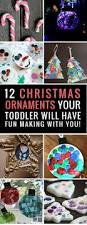 12 super easy christmas ornaments toddlers can make with a little