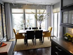 apartment dining room table for small creative pendant light above