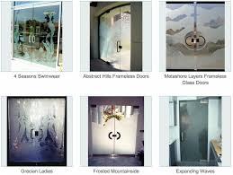 Interior Frameless Glass Door by Frameless Doors Page 3 Of 3 Sans Soucie Art Glass