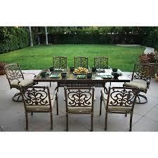 Lowes Patio Furniture Sets by Shop Darlee Santa Barbara 9 Piece Mocha Stone Patio Dining Set At