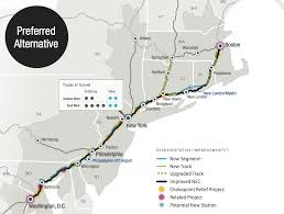 Amtrak Capitol Corridor Map by Fed Plan For Northeast Corridor Rail Includes New Shoreline Route